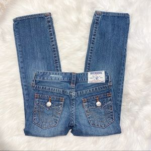 True Religion Straight Leg Jeans Size 8